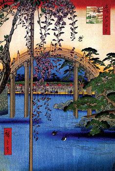 Inside Kameido Tenjin Shrine - Utagawa Hiroshige Poster