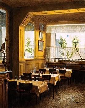 Interieur Restaurant Polidor Art Print