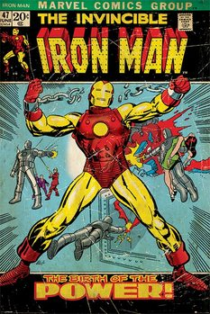 IRON MAN - birth of power Poster, Art Print