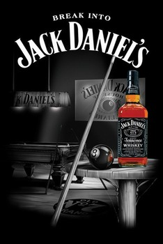 Jack Daniel's - pool room Poster, Art Print