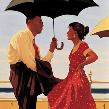Jack Vettriano - Bad Boy, Good Girl Art Print