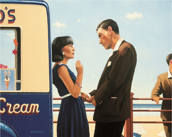 Jack Vettriano - The Lying Game Art Print