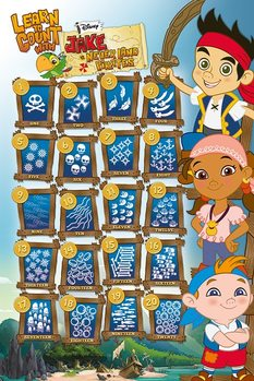 Poster Jake and the Neverland Pirates - Learn to Count With
