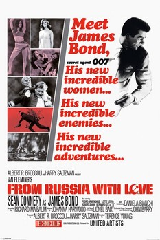 Pôster JAMES BOND 007- from russia with love