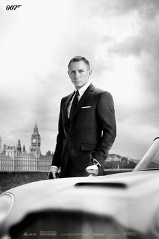 JAMES BOND 007 - skyfall / bond & DB5 Poster, Art Print