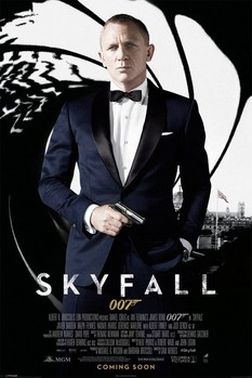 JAMES BOND 007 - skyfall one sheet black Poster, Art Print
