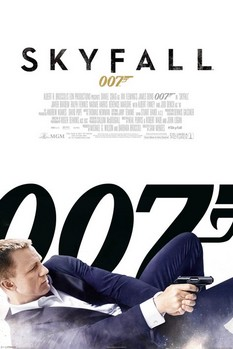 JAMES BOND 007 - skyfall one sheet white Poster, Art Print