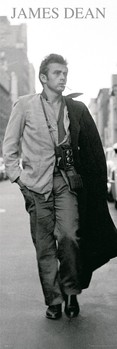James Dean - black & white photo Poster