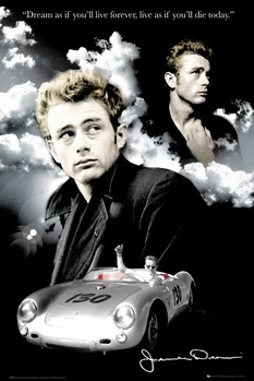 James Dean - clouds Poster