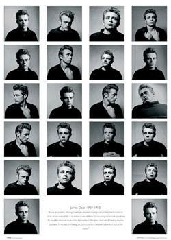 James Dean - faces Poster