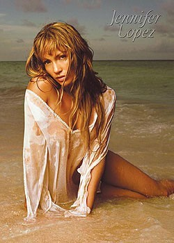 Jennifer Lopez - beach Poster