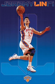 Pôster Jeremy Lin - new york knicks