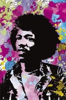 Jimi Hendrix - colours Poster