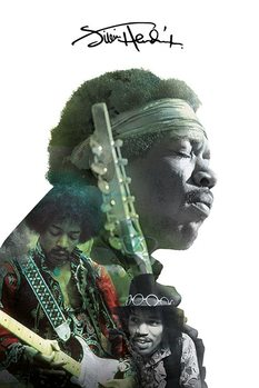 Jimi Hendrix - Double Exposure Poster, Art Print