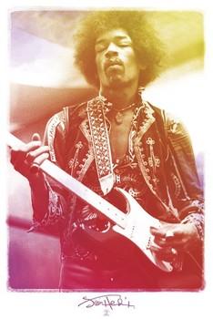 Jimi Hendrix - legendary Poster, Art Print