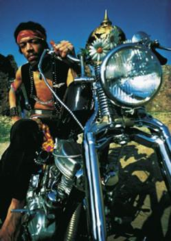 Jimi Hendrix - motorbike Poster