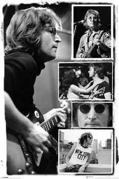 John Lennon - collage bob gruen Poster