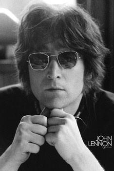 John Lennon - legend b&w Poster