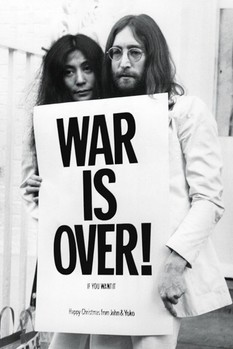 John Lennon - war is over Poster, Art Print