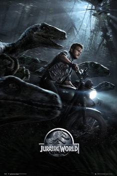 Jurassic World - Raptors One Sheet Poster, Art Print