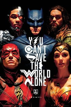 Justice League - Faces Poster