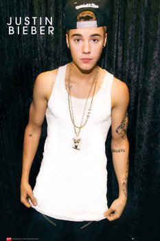 Justin Bieber - cap Poster, Art Print