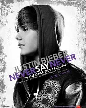 Justin Bieber - never say never Poster, Art Print