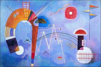 Kandinsky - Curva E Spigoli Art Print