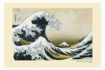 Pôster Katsushika Hokusai- a great wawe of kanagawa