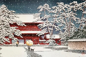 Kawase - Zojo Temple in the Snow Poster