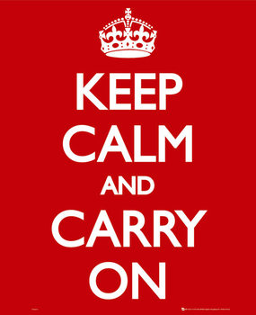 Pôster Keep calm & carry on