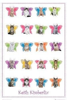 Poster Keith Kimberlin - cats wings