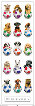 Keith Kimberlin – Dogs with Balls Poster