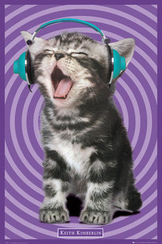 Keith Kimberlin – kitten headphones Poster, Art Print