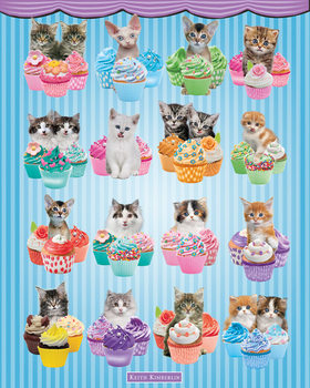 Pôster Keith Kimberlin - Kittens Cupcakes