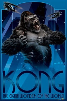 KING KONG - art deco Poster