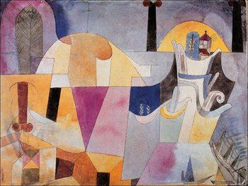 Klee - Paesaggio con colonne Art Print