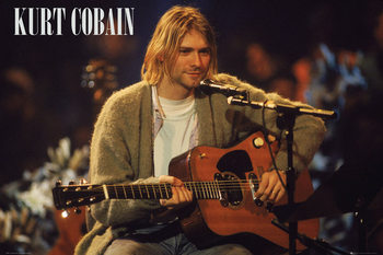 Kurt Cobain - Unplugged Landscape Poster, Art Print
