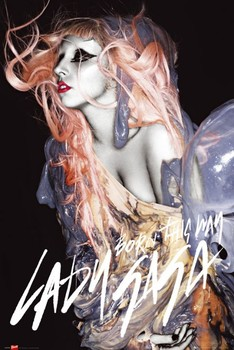 Lady Gaga - gunge orange hair Poster