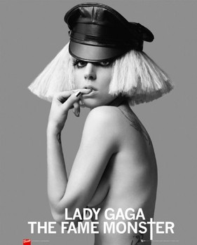 Lady Gaga - leaTher cap Poster