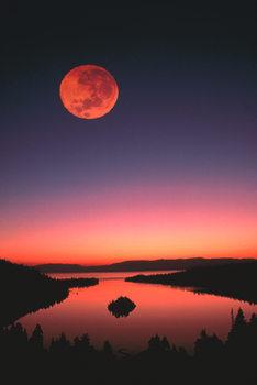 Lake Tahoe at night Poster