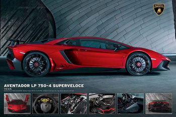 Poster Lamborghini Aventador LP750-4