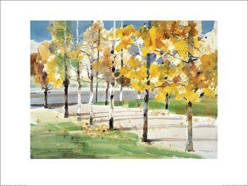 Law Wai Hin - Autumn Trees Art Print