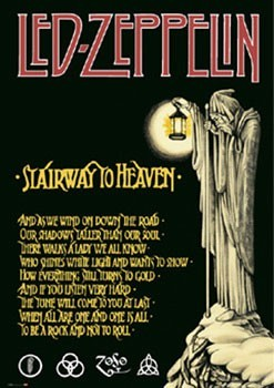 Led Zeppelin - stairway Poster