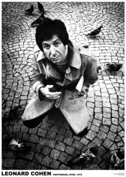 Poster Leonard Cohen - Amsterdam 1972