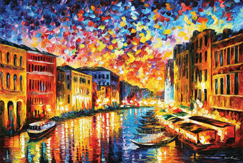 Leonid Afremov - Venice Grand Canal Poster