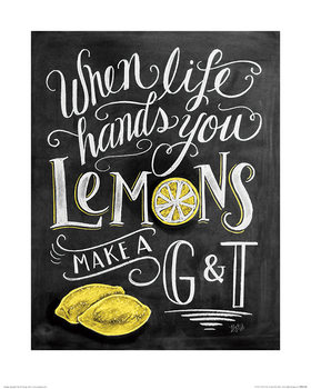 Lily & Val - Lemons Art Print
