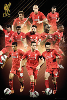 Liverpool FC - Players 15/16 Poster, Art Print