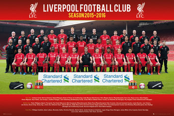 Liverpool FC - Team Photo 15/16 Poster, Art Print