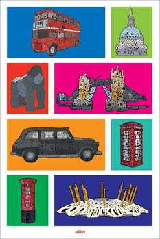 London - collage Poster